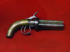 Pepper-box -  Mid-19th-century four-barrel Russian pepperbox revolver