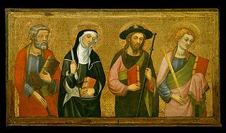Saint Peter, Saint Claire, Saint James the Great, Saint John the Evangelist