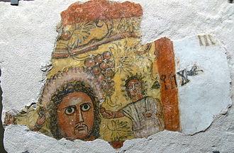 Qaryat al-Faw - Image: Pergamon Museum Wandmalerei 2