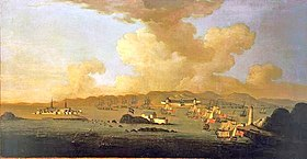 The Capture of Louisburg, 1745 par Peter Monamy