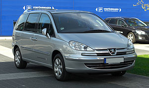Eurovans - Peugeot 807 (facelift), one of the four Eurovan versions