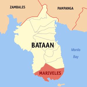 Bataan Export Processing Zone - Map of Bataan showing the location of BEPZA