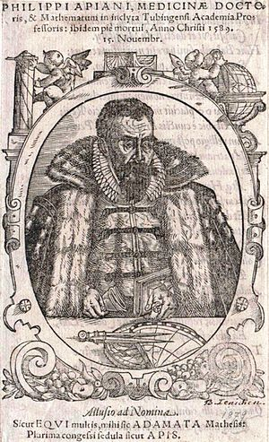 Philipp Apian - Philipp Apian (woodcut by Jochachim Lederlin, 1596)