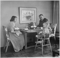 "Photograph of Representative Gerald R. Ford, with Wife Betty and Sons Michael and John ""Jack,"" Sitting at the Kitchen... - NARA - 186875.tif"