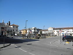 Piazza San Rocco (Saint Roch square), the central square of Costa di Rovigo