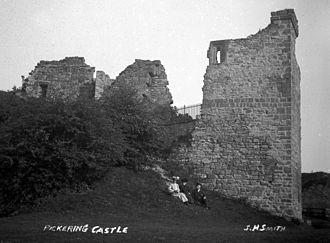 Pickering Castle - Pickering Castle in around 1910