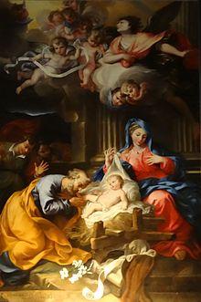 Pierre Parrocel, San Giuseppe adorante il bambino Gesù, 1694