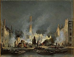 Brand van de suikerfabriek Het Paardehoofd van I.H. Rupe & Zoon