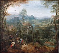 Painting of a gallow by Pieter Brueghel the Elder