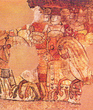 Mural paintings of the conquest of Majorca - Detail of the Mural - Nunó Sanç
