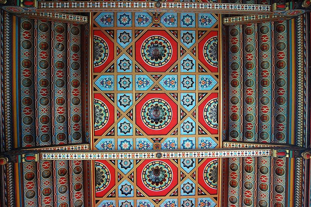 File plafond chapelle chateau de roquetaillade gironde - Plafond de la chapelle sixtine description ...