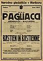 Plakat za predstavi Pagliacci in Bastien in Bastienne v Narodnem gledališču v Mariboru 16. januarja 1927.jpg