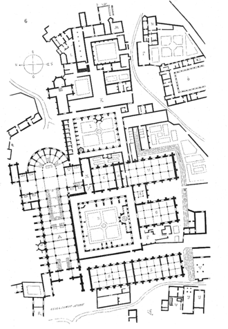 Clairvaux Abbey - Plan of the abbey.