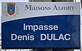 Plaque Impasse Denis Dulac - Maisons-Alfort (FR94) - 2021-03-22 - 1.jpg