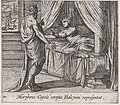 Plate 110- Morpheus, as Ceyx, Appearing to Alcyone (Morpheus Ceycis corpus Halcyoni representat), from Ovid's 'Metamorphoses' MET DP866557.jpg