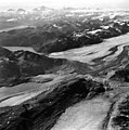 Plateau, Carroll and Burroughs Glaciers, tidewater and mountain glacier terminus' and glacial remnents, September 18, 1972 (GLACIERS 5791).jpg