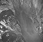 Plateau Glacier, glacial remnents and glacial flour, September 17, 1966 (GLACIERS 5779).jpg