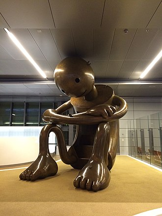 Public art in Qatar - A bronze sculpture from the Playground installation on public display in Hamad International Airport.
