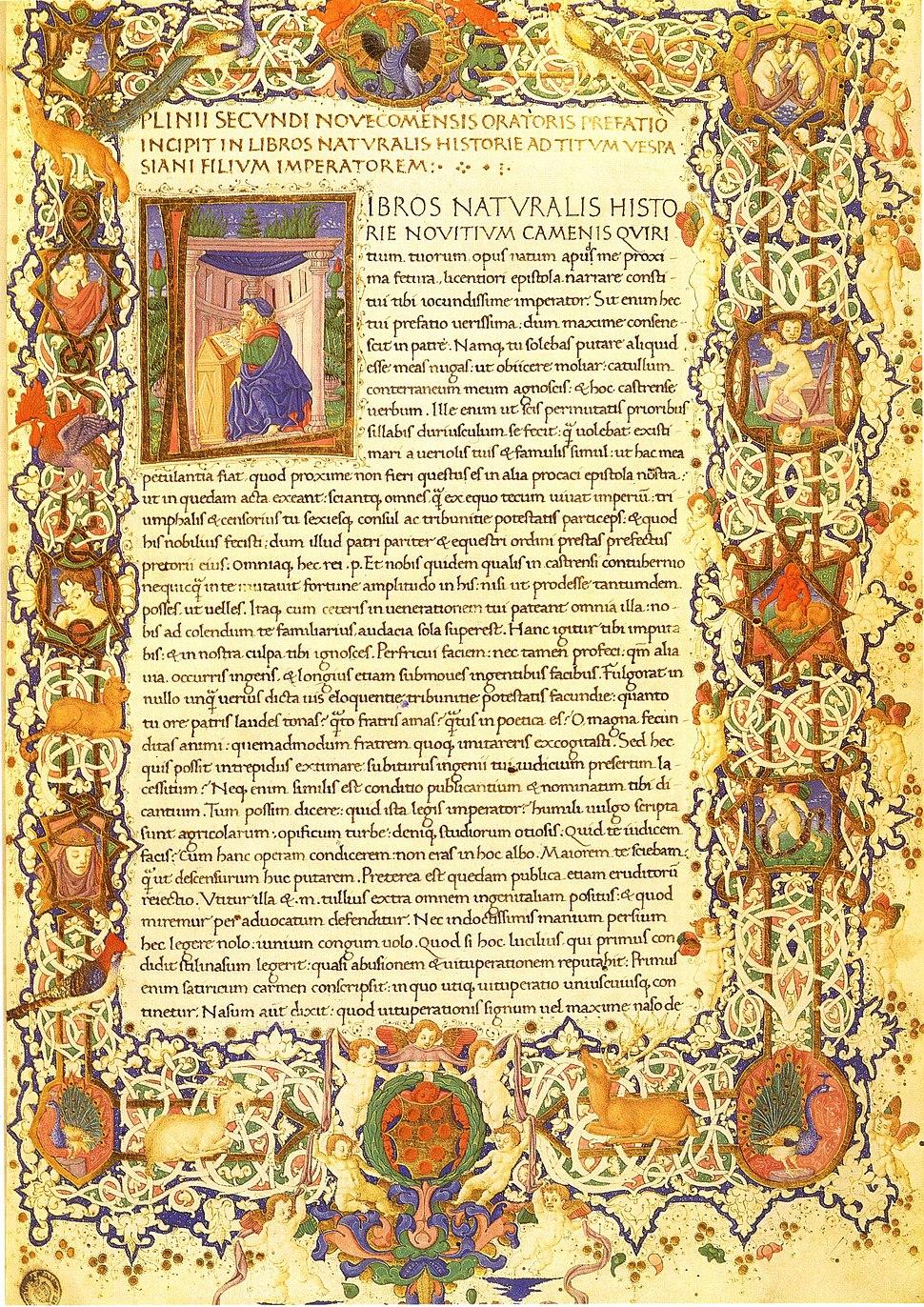 Pliny the Elder, Natural History, Florence, Plut. 82.4