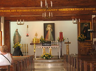 Divine Mercy Sanctuary (Płock) - Interior view of the chapel