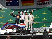 Podium du Grand Prix automobile de Belgique 2016