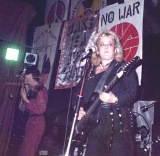 Poison Girls - Poison Girls performing at the squatted Zig Zag Club in London, 18 December 1982