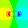 Pole magnetyczne wokół magnesu trwałego.png
