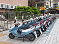 Police Patrol Motorcycles Parked in Front of Sanmin Police Station 20120119.jpg