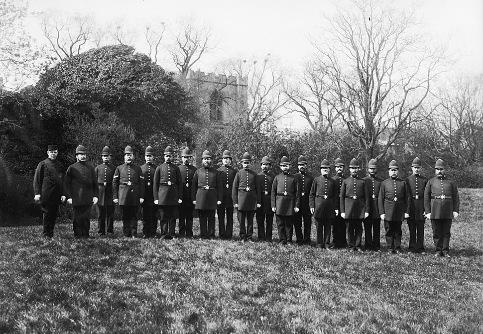 Police group portrait Bury St Edmunds Suffolk England