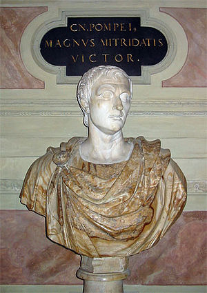 The Twelve Caesars - Bust of Pompey in the Residenz, Munich.