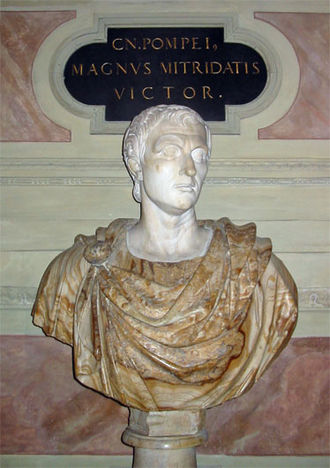 Crisis of the Roman Republic - Bust of Pompey the Great in the Residenz, Munich