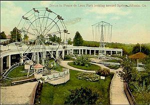 Ponce de Leon amusement park - Postcard of Ponce de Leon amusement park
