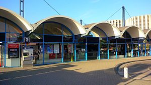 Poole railway station - Exterior of railway station in Poole