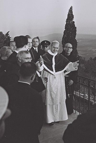 File:Pope Paulus VI on Mount Tabor.jpg