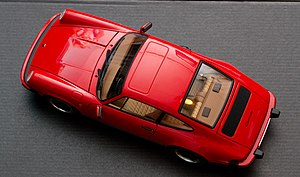 AUTOart - AUTOart late 1970s Porsche 911 Carrera. Note precise detail in seat cloth design, rear view mirrors, windshield wipers and logos.