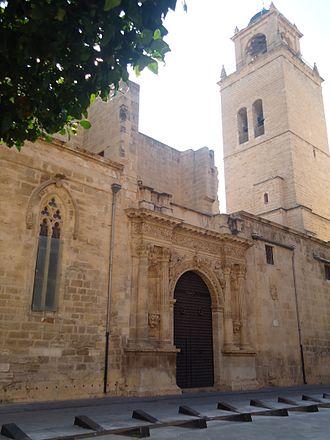 """Orihuela Cathedral - """"Anunciación"""" portal."""