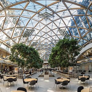 Portcullis House - The main atrium of Portcullis House