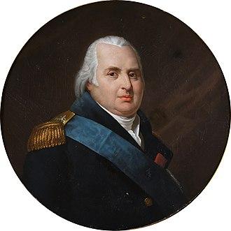 Paul François de Quelen de la Vauguyon - Louis XVIII - La Vauguyon was one of the four ministers who formed his conseil d'État, later becoming a victim of Louis's favourite the count (later duke) of Avaray.