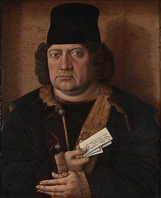 Master of the Mornauer Portrait - Portrait of Alexander Mornauer, circa 1464–1488. National Gallery, London.