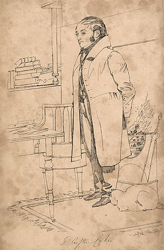 Thomas Crofton Croker - Sketch of Crofton Croker in his home