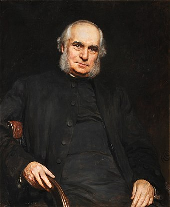 Bishop William Stubbs, in his Constitutional History (1873-78), emphasised Edward I's contribution to the English constitution. Portrait of William Stubbs by Hubert von Herkomer.jpeg