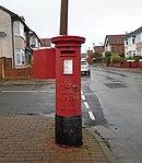 Post box at Willoughby Road, Wallasey.jpg