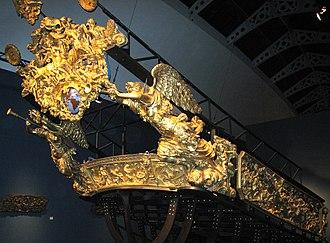 Levant Fleet - The stern of Louis XIV's Réale.