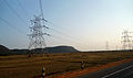 Power transmission lines (High Tension) at Payakaraopeta.JPG