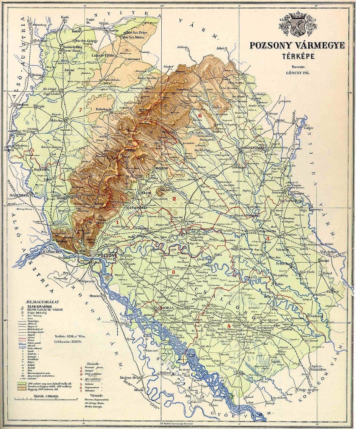 Pozsonyn Maakunta Wikipedia
