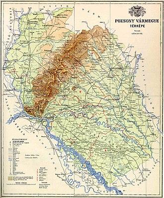 Pozsony County - Map of Pozsony county