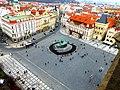 Prag - Blick vom Altstädter Rathausturm auf den Altstädter Ring - Pohled z věže Staré radnice na Staroměstském náměstí - panoramio.jpg
