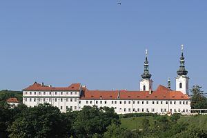 Strahov Monastery - View of Strahov Monastery from Úvoz street.