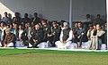 Pranab Mukherjee, the Vice President, Shri Mohd. Hamid Ansari, the Prime Minister, Dr. Manmohan Singh and the Chairperson, National Advisory Council, Smt. Sonia Gandhi at the Sarva Dharma Prarthana Sabha, at Shakti Sthal.jpg
