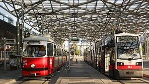 Strecke der Straßenbahnstrecke 5 (Wien)